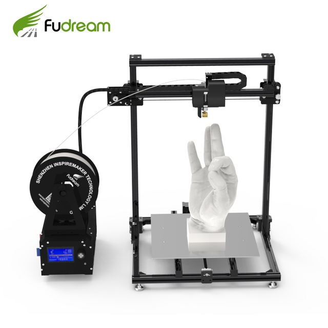 Metal frame 3d printer Fudream DIY printer 3d kit with large printing size and cheap price