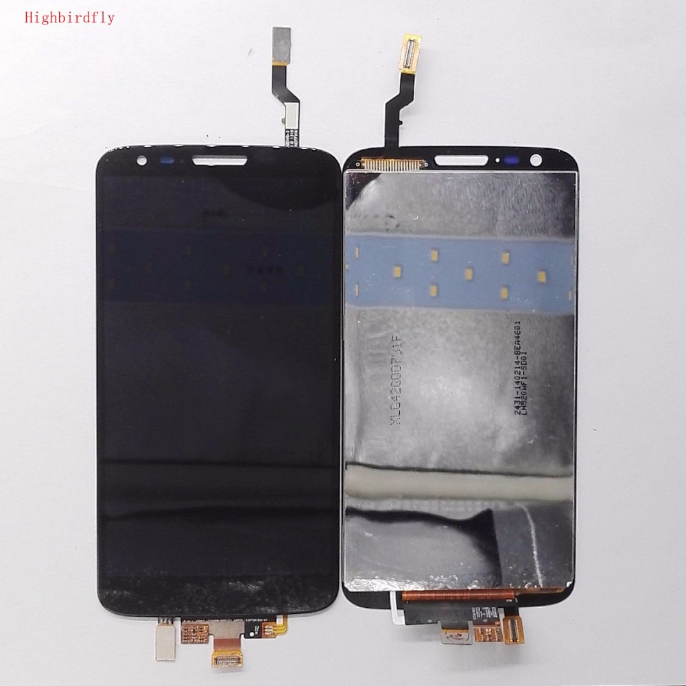 Highbirdfly For Lg G2 D800 D801 F320 F320L Lcd Display WIth Touch Screen Diggitizer Frame Together Full Lcds