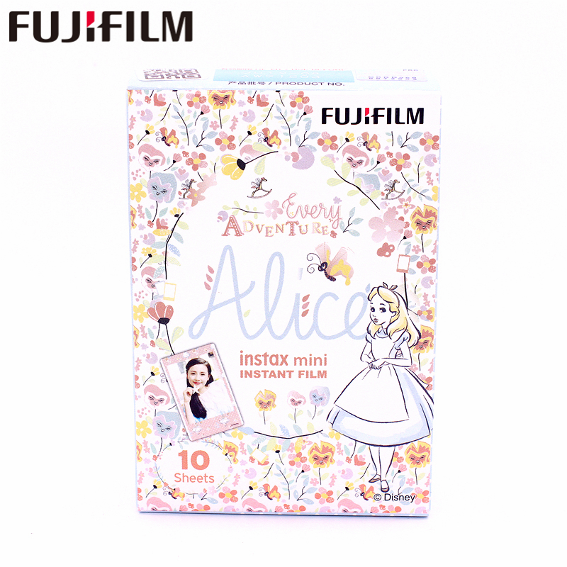 Original Fujifilm Fuji Instax Mini 8 ADVENTURE ALICE Film 10 Sheets For 7 8 9 50s 7s 90 25 Share SP-1 SP-2 Instant Cameras original fujifilm fuji instax mini monochrome film 10 sheets for mini 9 8 50s 7s 90 25 instant cameras share sp 1 sp 2 printers