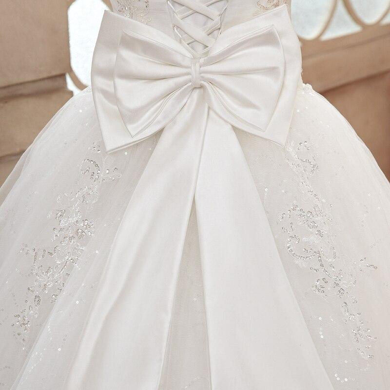 Дешевые Свадебные платья, хорошее качество, роскошное кружевное платье принцессы с вышивкой, большие размеры, длинное платье подружки невесты с бантом