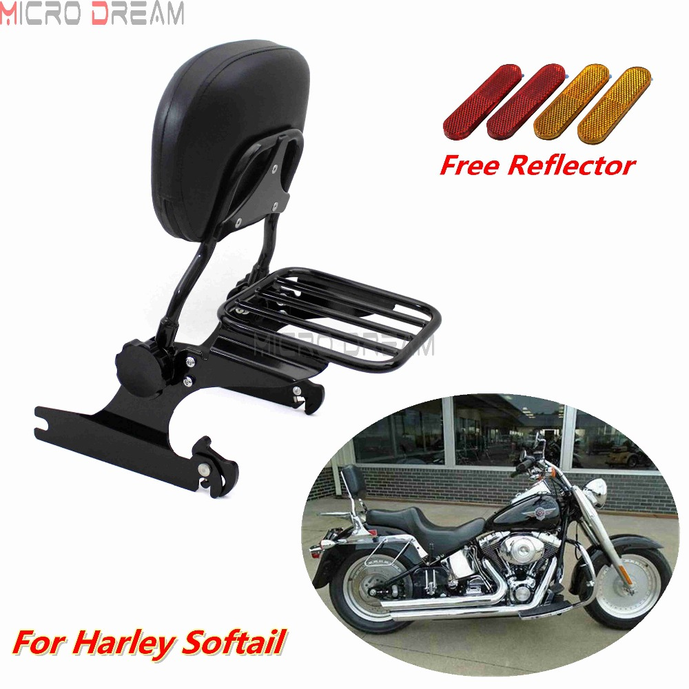 Customacces AZ1302N Sissybar Detachable Black Harley Davidson Softail Breakout FXBR 00-15