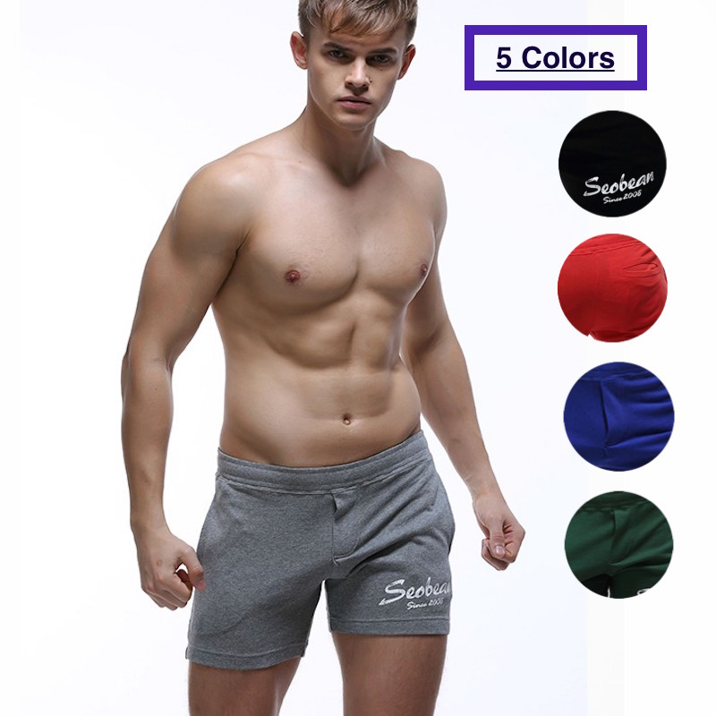 SEOBEAN Mens Jogger Shorts Casual Trunks Kurze Hosen Herren Summer Short Cortos Hombres Beach Small Boxer Cotton Pantalón Corto