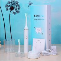 New Chargeable Electric Toothbrush Wireless Charge Ultrasonic Sonic Electric Tooth Brush 2 Heads Teeth Brush