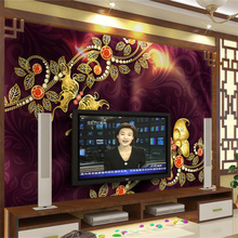 beibehang Wallpaper Mural Custom Living Room Bedroom Luxury Pearl Flower 3D Jewelry Mural Background Home Decor