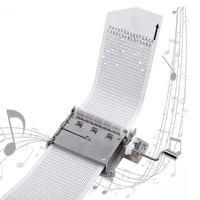30 Note Mechanical Musical Box Tape Hand Crank Music Box Movement Part + Puncher With 3 Strips DIY Songs Perfect Gift Set