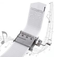 Caja Musical mecánica de 30 notas, cinta con manivela manual, pieza de movimiento de caja Musical + perforadora con 3 tiras, canciones DIY, juego de Regalo perfecto