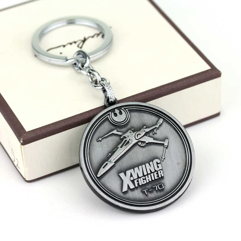 อุปกรณ์เสริมวินเทจดาวสงครามXปีกเครื่องบินขับไล่พวงกุญแจพวงกุญแจสำหรับผู้ชายผู้หญิงพวงกุญแจ