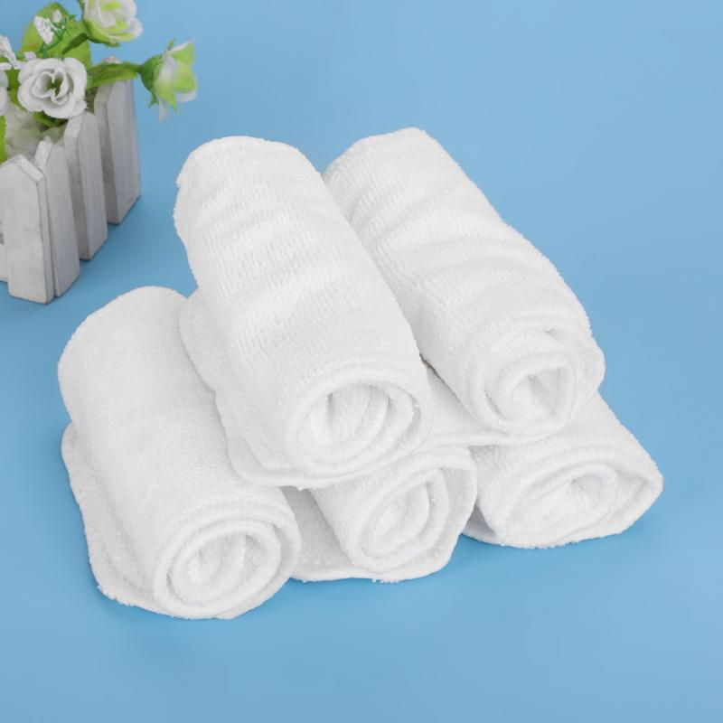 5Pcs Bamboo Diaper Insert Baby Infant Diaper Nappy Liners Insert For Baby Cloth Diapers Nappy Soft Reusable Washable Breathable