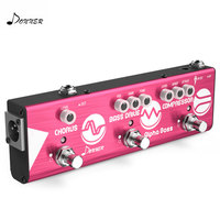 Donner Effect Chain Alpha BASS Guitar Effect Pedal Mini Multi Effects Compressor Bass Drive Chorus Effect Pedal Guitar Parts