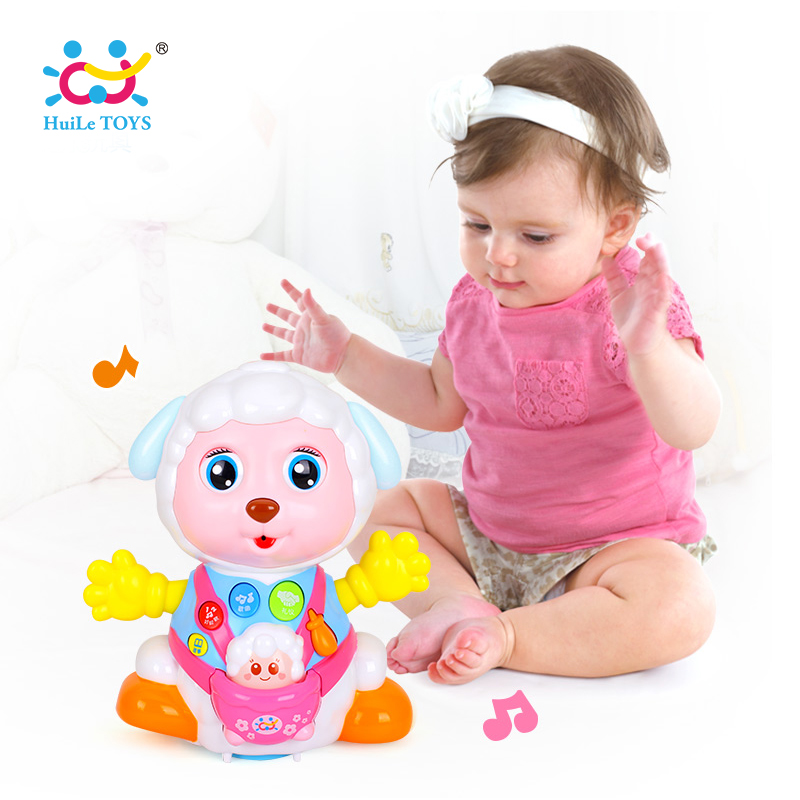 HUILE TOYS 888 Baby Toys Record and Play Interactive Electric Toy Sheep Kids Early Learning Educational Toys with Music & Lights стоимость