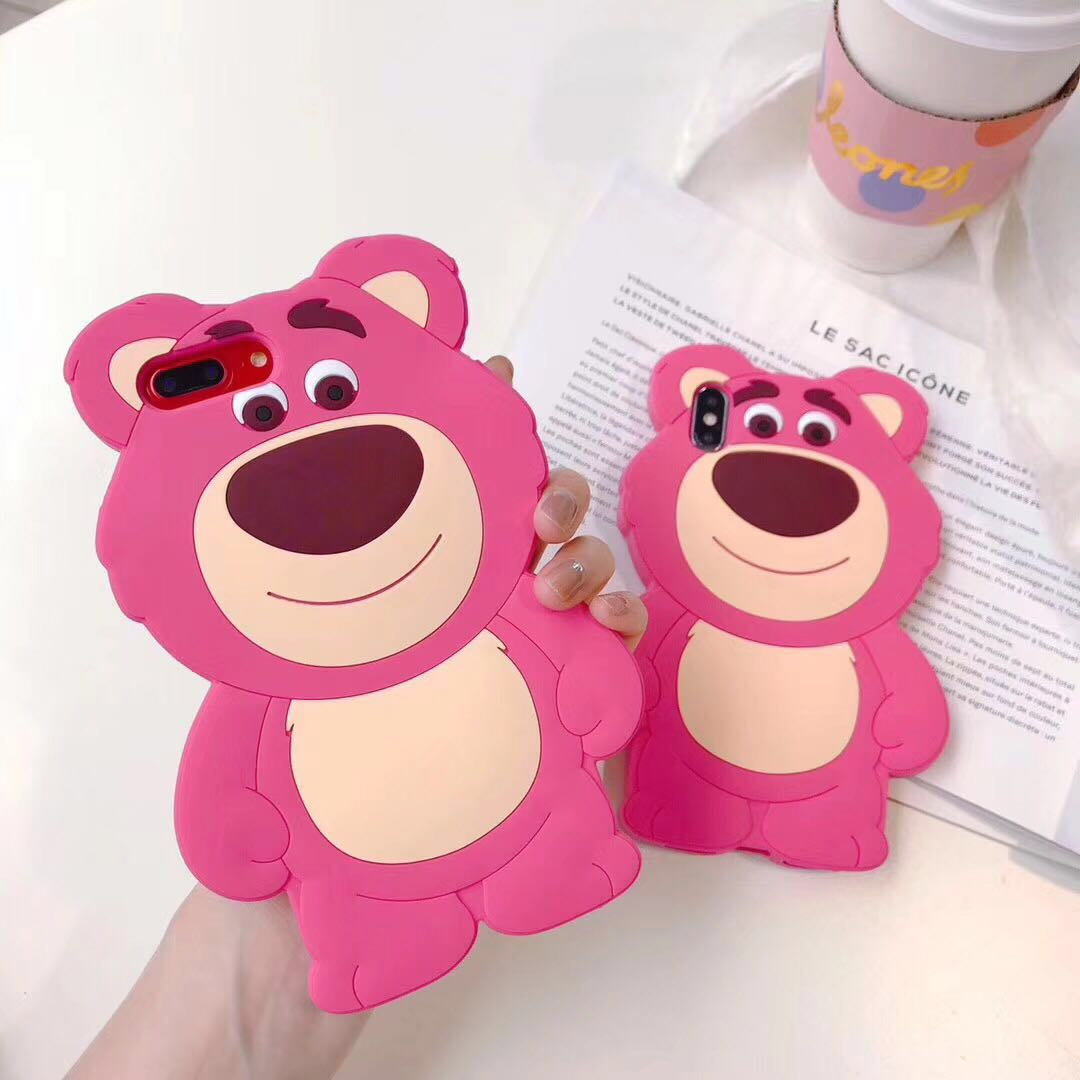 Strawberry bear Iphone Case