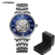 SINOBI Hollow Automatic Watch Man Mechanical watches Japanese Miyota Movement Mens Rolexable Watches Luxury Wristwatches 19