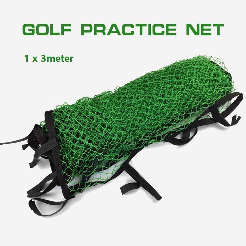 Red de nailon para práctica de Golf, Red de entrenamiento de impacto para barrera deportiva con correas mágicas, red de 3 metros cuadrados fácil de sujetar Agarre del palo de Golf Universal antideslizante Grips Wrap accesorios de entrenamiento para palos de Golf de hierro palos de madera