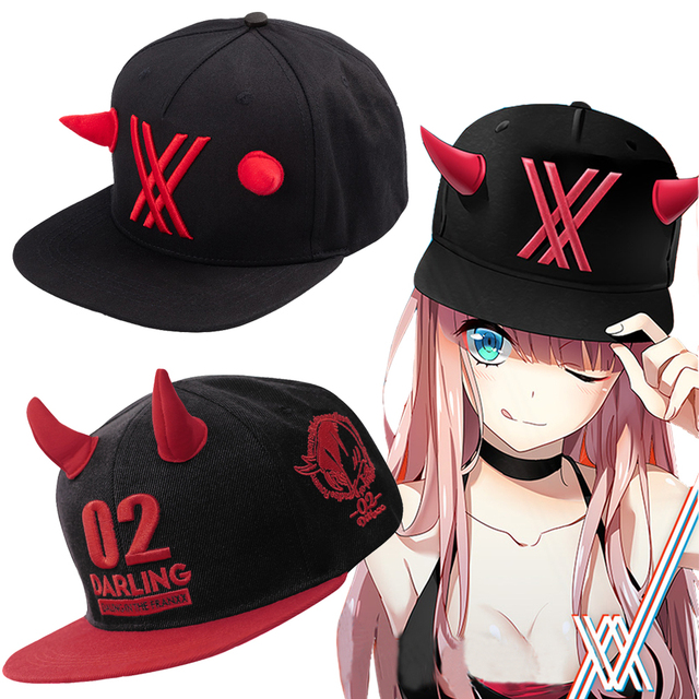 Anime Darling in the Franxx Hat Cosplay zero two 02 Cap props-in ... 46f6aec018a4