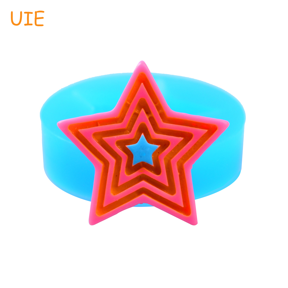 PYL146U 23.6 мм звезда Гибкие Силиконовые Push форма для кекса Топпер, помады, конфеты, резинки паста, смолы, ювелирные изделия, глазурь, Еда безопас...