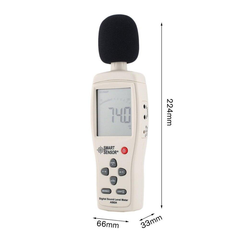 Capteur intelligent AS824 sonomètres décibels compteur enregistreur bruit Audio détecteur numérique Diagnostic-outil automobile 30 ~ 130dB - 6