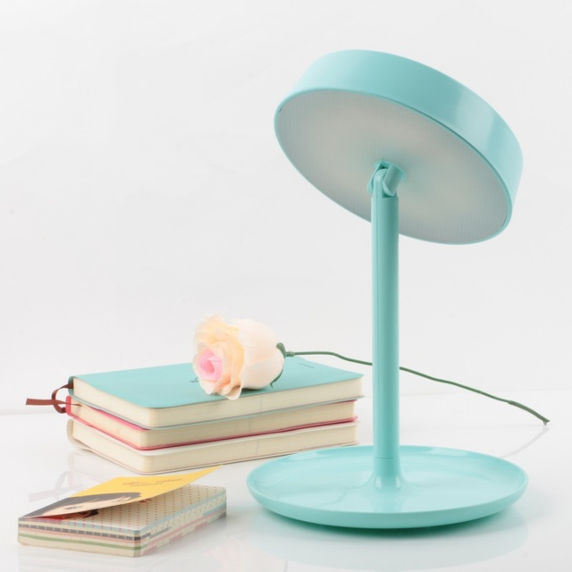 LED de 180 Grados de Rotación Soporte Recargable Lámpara de Espejo Ajustable 2-en-1 Luz Colorida de Escritorio Maquillaje Herramientas