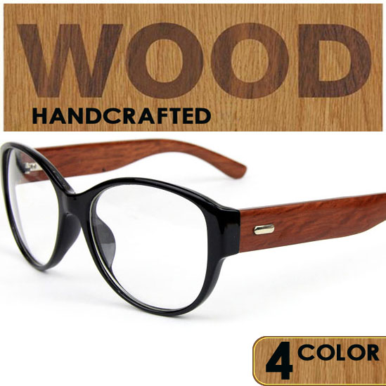 2016 new classic wood temple eyeglasses frames vintage wooden glasses frame for prescription retro wood eyewear - Wood Frame Glasses