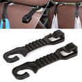 1 Pair Car Back Seat Hooks Holder For Bag Purse Cloth Grocer Flexible Auto Hangers Fixed On Headrest Car Styling Accessories