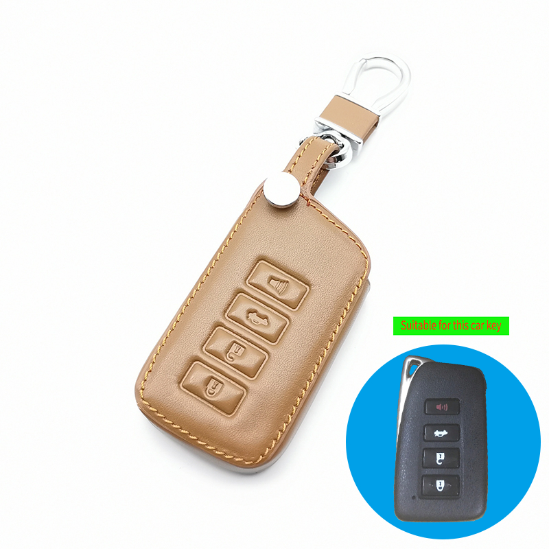 4 Buttons Key Fob <font><b>Cover</b></font> Case For <font><b>Lexus</b></font> ES350 GS350 GS450h IS250 RC350 NX200T <font><b>NX300h</b></font> LX570 <font><b>Car</b></font> Remote Holder Protector image