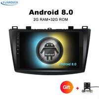 Funrover 9 Inch Dvd Car Radio For MAZDA 3 2010 2013 Quard Core Android 8 0