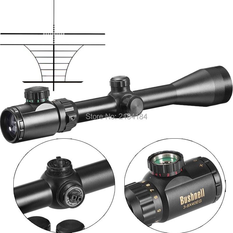 BUSHNELL Hunting Scope Riflescope Gold 3-9X40EG Red/Green Illuminated Military Optic Sight Sniper Deer Riflescope