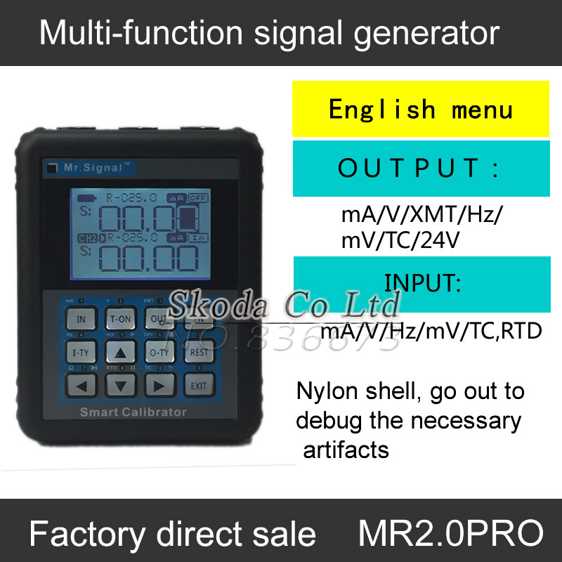 Newest Multifunction Signal generator MR2.0Pro 4-20mA smart calibrator for Thermocouple Resistance urrent and voltage frequency