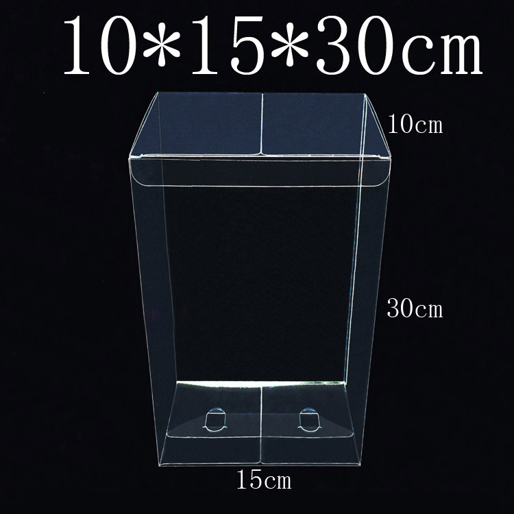 10 Pieces lot 10 15 30cm PVC Large transparent plastic box packing boxes for gift candy