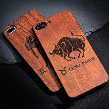 Unique Constellation Natural Wood Phone Case