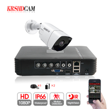1CH CCTV System 4CH 1080N DVR 1PCS 1080P SONY AHD Camera IR Waterproof Outdoor CCTV Security Camera Home Video Surveillance kit