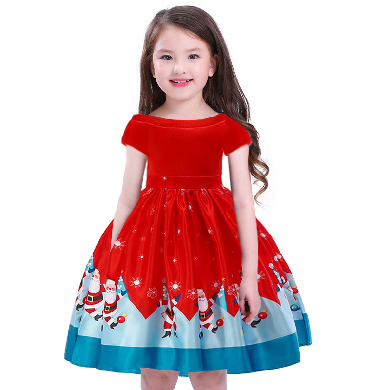 Toddler Baby Clothes Christmas   Dress     Girls   Santa Claus Ball Gown Kids   Dresses   Princess   Dress     Girl   Party   Dress   Clothing Vestidos