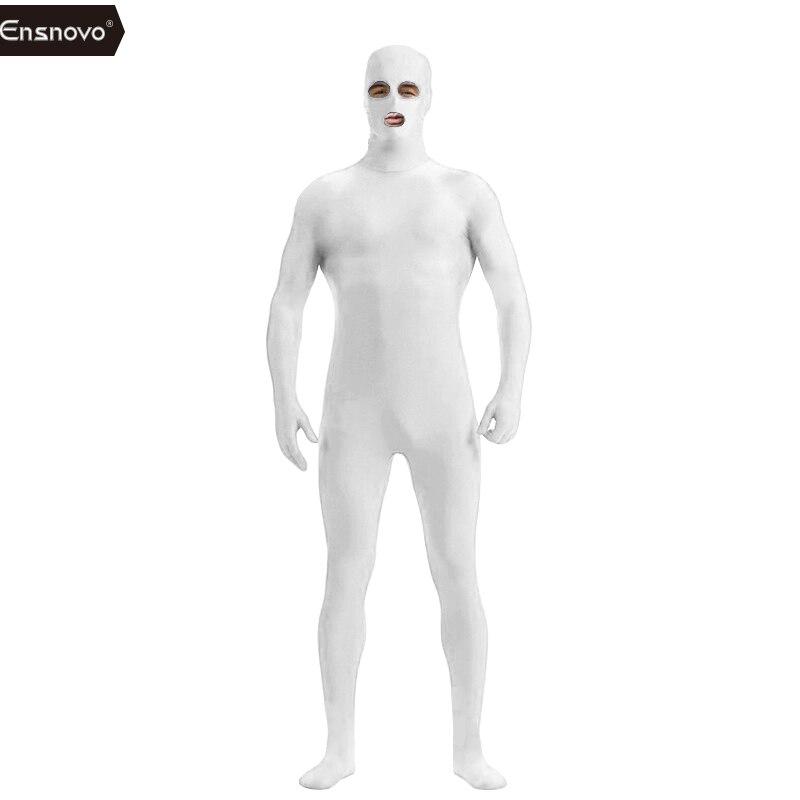 Ensnovo Տղամարդկանց Spandex Նեյլոնե Լիկրա Սև - Կարնավալային հագուստները - Լուսանկար 6