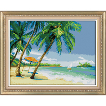 Everlasting Love Seaside scenery Chinese cross stitch kits Ecological cotton stamped 11CT and 14CT DIY gift new year decorations