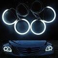 Ajuste especial para Mazda 3 Sedan Hatchback 2004-2008 Faróis 7000 K Branco Brilhante CCFL Angel Eyes Halo Anéis Kit X4