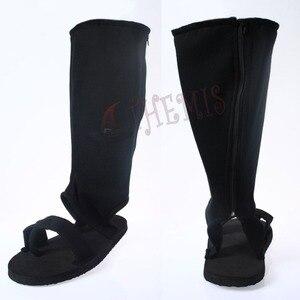 Image 2 - MMGG Anime Naruto cosplay Ninja Uchiha Sasuke Cosplay ayakkabı Cosplay çizmeler fermuarlı arka