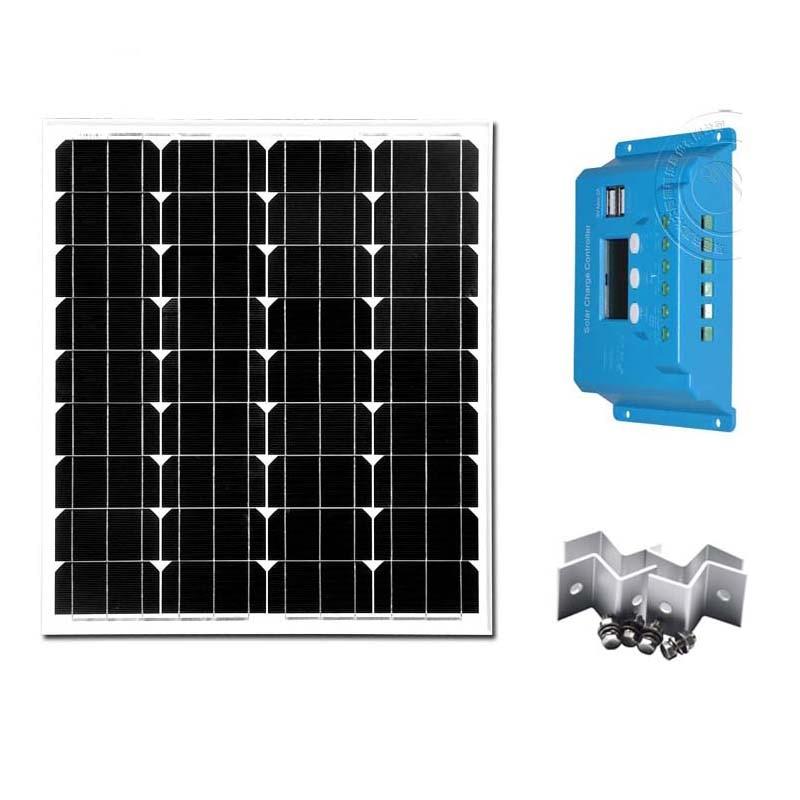 Kit Solar Caravana Panneaux Solaire 12v 70 w 12v/24v 10 Amp Charge Controller Mobile Charger Caravan Motorhome Camping