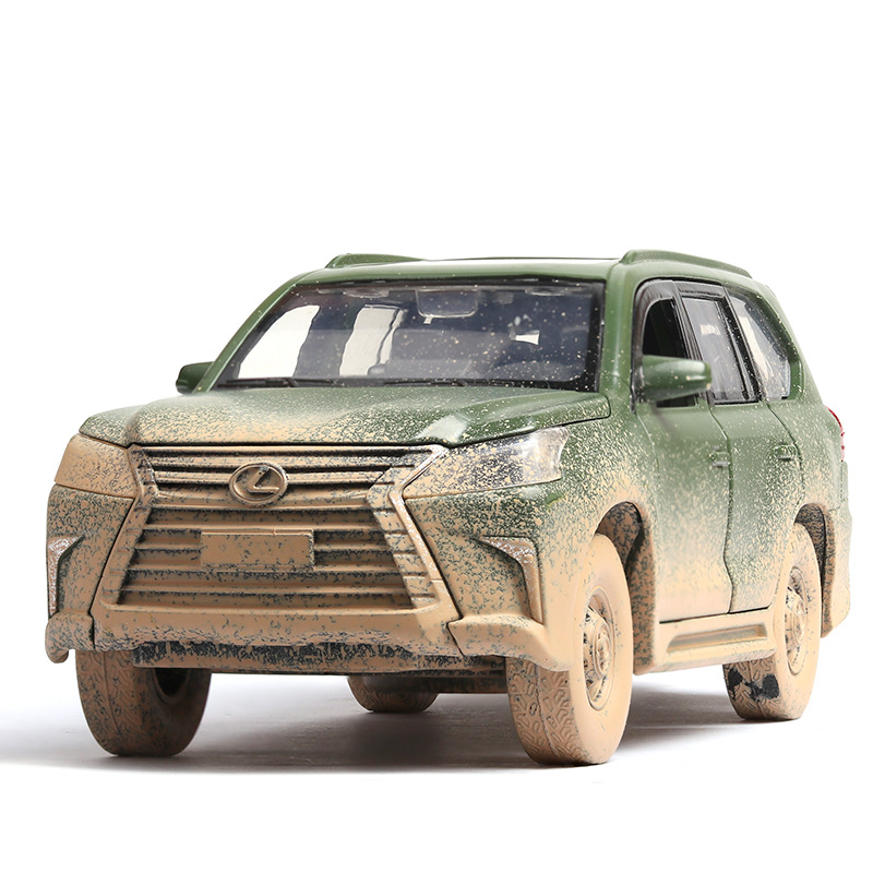 (Boxed) Lexus Lx570 Alloy Car Model Off-road Vehicle Suv To Do The Old Version Of The Alloy Car Model