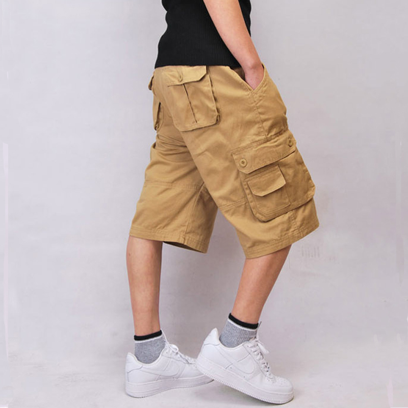 Casual Big Size 30-44 Hip pop Cotton Multi pocket baggy Men's Cargo Shorts