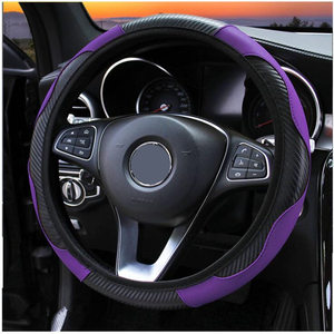 Image 4 - 100% Wear resistant Leather Universal Car Steering wheel Cover 36CM 39CM Car styling Sport Auto Steering Wheel Covers Anti Slip