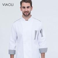 Viaoli Chef Dresses Winter Long Sleeve Men Western Kitchen Work Clothes