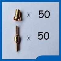 Free Shipping 100PCS PT31 LG40 Plasma Cutter Cutting Consumables KIT Extended Plasma Nozzles TIPS Fit Cut40