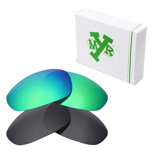 2 Pairs MRY ПОЛЯРИЗОВАННЫЕ на Замену Линзы для Джульетта Солнцезащитные Очки Oakley Stealth Black & Изумрудно-Зеленый