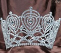 Corazón Grande Diadema Corona de La Tiara Rhinestone Hecho A Mano Cristalino Nupcial de La Boda Pageant Partido Prom Accesorios Para el Cabello