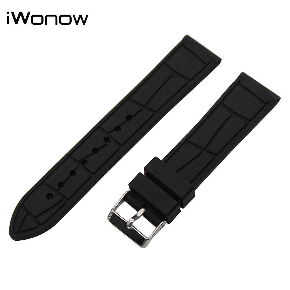 Silicone Watch Band 22mm for Samsung Gear S3 Classic / Frontier Stainless Steel Pin Buckle Strap Rubber Wrist Belt Bracelet 22mm silicone rubber watch band for samsung gear s3 classic frontier stainless steel buckle strap wrist belt bracelet black