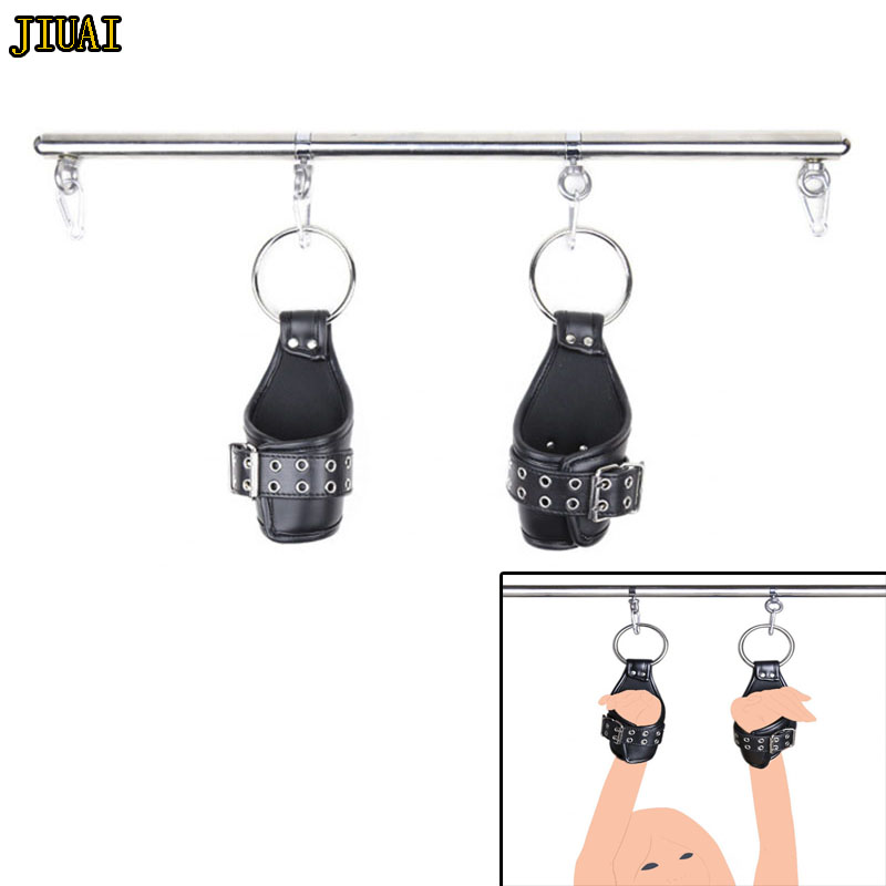 Home Spreader Bars With Hand Cuffs Pu Leather Wrist Suspension Swing Handcuffs,strong Padded Hanging Arm Binders,bdsm Adult Sex Toys Goods Of Every Description Are Available