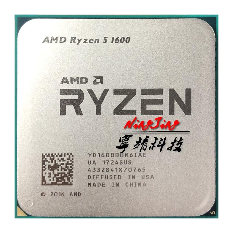 Amd ryzen 5 1600 r5 1600 3.2 ghz seis-núcleo doze rosca 65 w processador cpu yd1600bbm6iae soquete am4