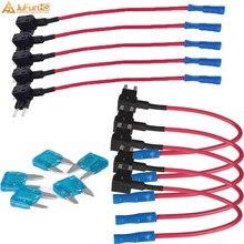 купить 10 Pcs Car Auto 15A Add Circuit Mini Blade Fuse Boxe Holder ACS ATO ATC Piggy Back Tap ATM Fuse Adapter дешево