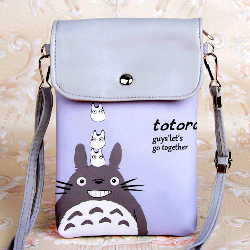 PU leather cartoon totoro coin purse wallet kids mini money pouch phone bag bolso mujer bolsa carteira feminina for girls boys