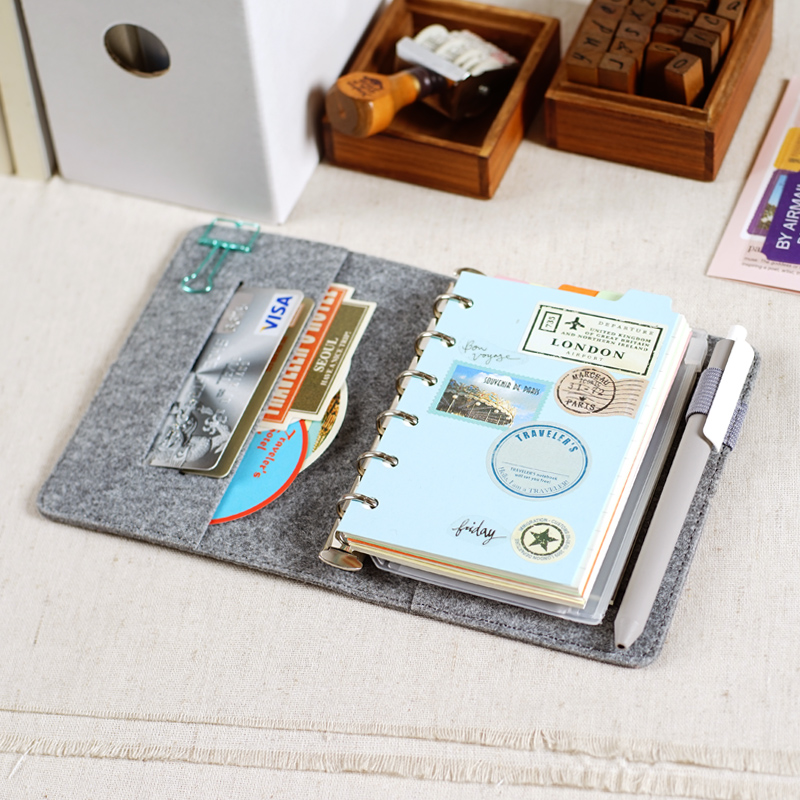 Books Notepad Querysystem Vintage Diary Small Ring Binder
