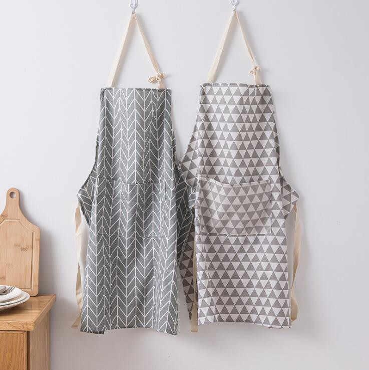 Estilo Simple moderno Venta caliente de alta calidad de las mujeres delantales ajustable sin mangas cocina delantales de trabajo delantal de cocina